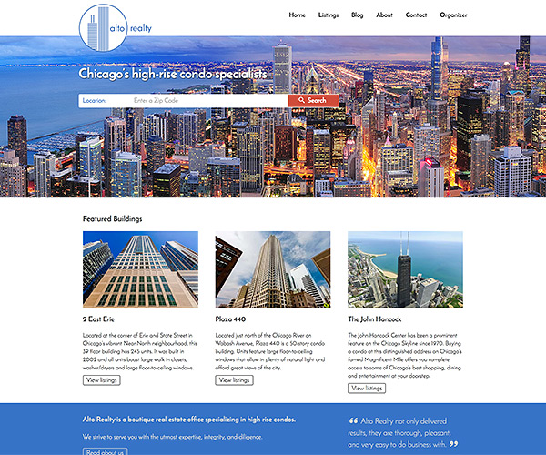 Alto Realty Website