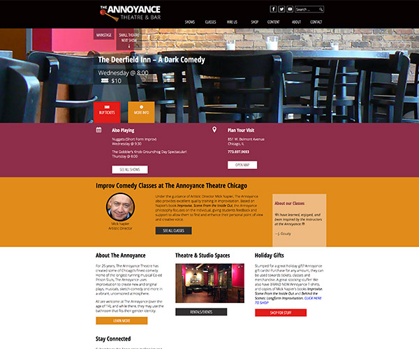 The Annoyance Theatre Website